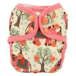 1 NEWBORN Cloth Diaper Cover Baby Nappy Double Gusset Elepha