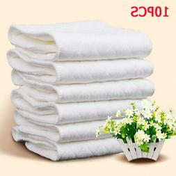 10 Pcs Reusable Pure Cotton Baby Cloth Diaper Nappy Liners I