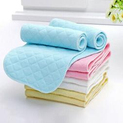 10Pcs Reusable Baby Cotton Cloth Diaper Washable 3 Layers Na