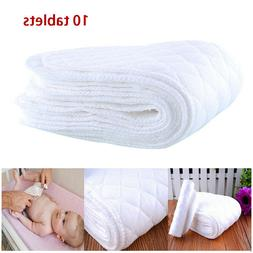 10pcs Reusable Cloth Diapers Cotton Baby Newborn Insert Napp