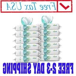 12 Packs Sensitive Water Baby Wipes, Hypoallergenic and Unsc
