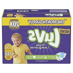 140 ct Luvs Ultra Leakguard Disposable Baby Diapers Size 5