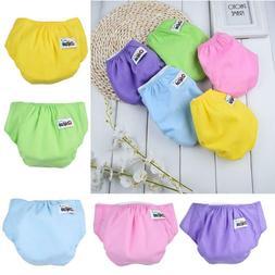 1×Baby Cotton Diaper Cover Kids Training PP Pants Adjustabl