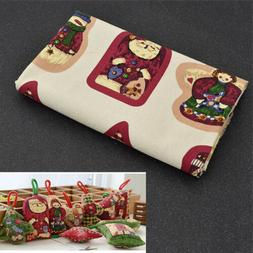 1set Christmas Doll Fabric Sewing Patchwork Kids Bedding Bag