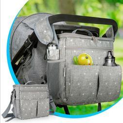 1X Stroller Insulated Baby Shoulder Messenger Bag Backpack D