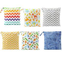 Reusable Waterproof Zip Wet Dry Bag Newborn Baby Cloth Diape