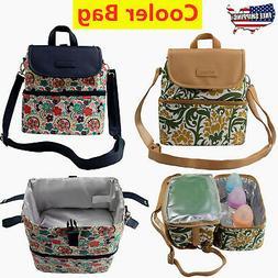 2 Color Cooler Bag Baby Bottle Diaper Backpack Insulated Mat