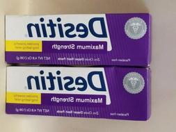 2 × Desitin Diaper Rash Paste Maximum Strength  4.8 Oz  EXP