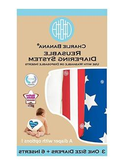 Charlie Banana 2-in-1 Reusable Diapers 3 Pcs, Patriot