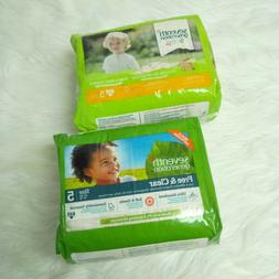 2 New SEVENTH GENERATION Free & Clear Baby Diapers Size 5, 2