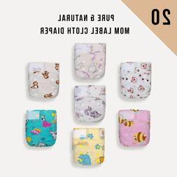 20 Newborn KaWaii Baby Mom Pure & Natural Cloth diapers