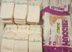 20 Vintage Huggies baby diapers plastic large 4 22-35 her pi