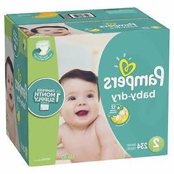 234 Count Pampers Baby Dry Disposable ONE MONTH SUPPLY Diape