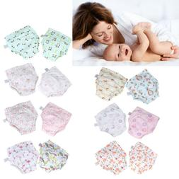 2Pcs Baby Training Pants Newborn Diaper Cover Washable Infan