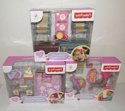 3 FISHER PRICE LOVING FAMILY PARENTs BEDROOM DINING ROOM EVE