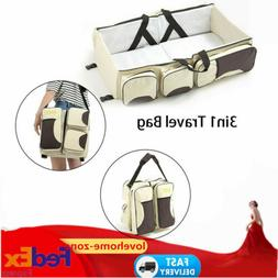 3 in 1 Baby Diaper Bag Baby Changing Station Folding Travel