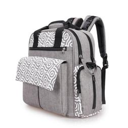 3 in 1 Diaper Bag Backpack Maternity Nappy Tote Changing Pad