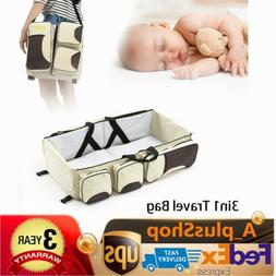 3 in 1 Diaper Tote Bag Travel Bassinet Carrycot Baby Bed Nap