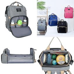 3 in 1 Foldbale Diaper Bag Baby Bed Portable Bassinet Crib B