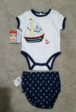 3 month 2 piece set Baby Essentials One Piece & Diaper Cover