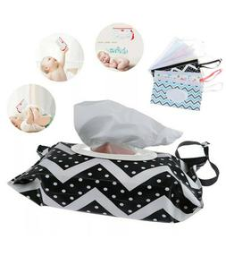 3 Pack Portable Wet Wipes Pouch Reusable Refillable Baby Wip