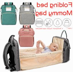 3in1 Baby Diaper Bag Mummy Nappy Backpack Portable Bassinet