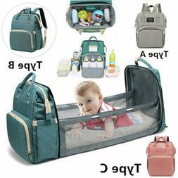 3in1 foldbale diaper bag baby bed portable