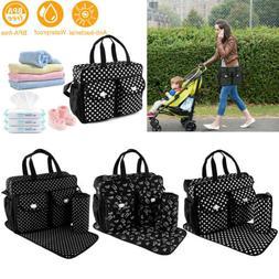 3pcs/set Larger Mummy Bag Baby Diaper Bag Mommy Nappy Changi