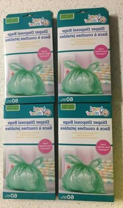 4 boxFresh Baby Powder Scented Diaper Disposal Bags  Angel O