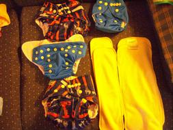 4 New ALVA BABY Cloth All In One Diapers