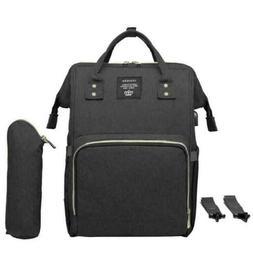4 Pcs Waterproof Diaper Bag Ergo Baby USB Charging Large Cap