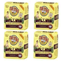 4 pks x 26 ct Earth's Best Tendercare Disposable Diapers Siz