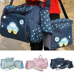 4Pcs Baby Nappy Changing Bag Set Large Capacity Diaper Handb