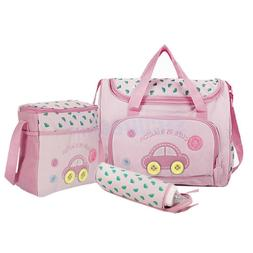 4PCS Pink Large Baby Diaper Nappy Changing mat Mommy Tote Ha