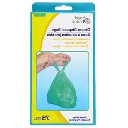 5 Baby Diaper Disposable Bag Tie Handles Scented Dog Poop Ba