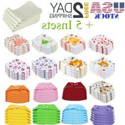 5 pcs 5 insets cloth diapers lot