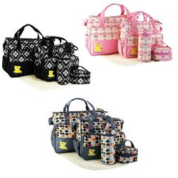 5 Piece Multi-functional Mommy Mother Handbag Baby Changing