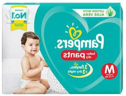 50 Pcs Pampers New Diapers Pants, Medium Size with Free Ship