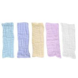 5Pcs/Set Cotton Gauze Baby Nappies Healthy Washable Diaper I