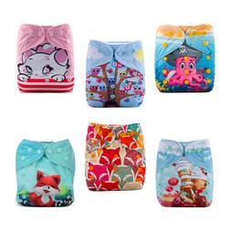 6 Adjustable Reusable Lot Baby Kids Boy Girls Washable Cloth