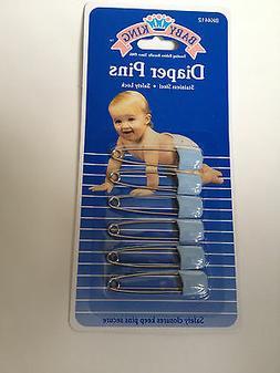 6 pc BABY DIAPER PINS Safety Pin Lock Cloth Locking