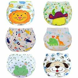 6 Training Pants Pack Baby Toddler Girls Potty Reusable Unde