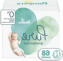 68 Count Pampers Pure Protection Disposable Baby Diapers Siz