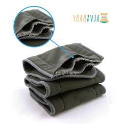 6pcs Reusable 4-layers Charcoal Bamboo Inserts Pad For Baby
