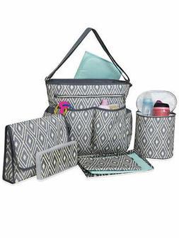 Baby Essentials 8-Piece Diaper Bag Set