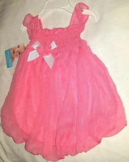 9M Girls Dress Coral Sleeveless Summer Diaper Snaps Dressy b