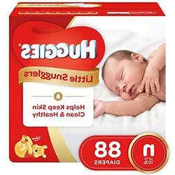 HUGGIES Little Snugglers Baby Diapers, Size Newborn, 88 Coun