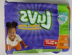 Luvs Size 3 Ultra Leakguards Diaper - 34 per pack -- 4 packs