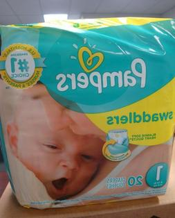 Pamper Swaddler Size 1 20 diapers