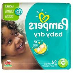 Pampers Baby-Dry Disposable Diapers Size 5, 24 Count, JUMBO
